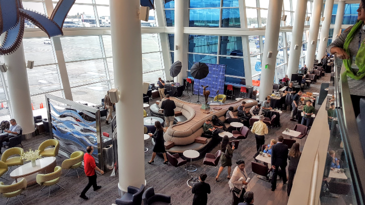 New Delta Sky Club at Seattle-Tacoma International Airport (Photo: Scott Hintz)