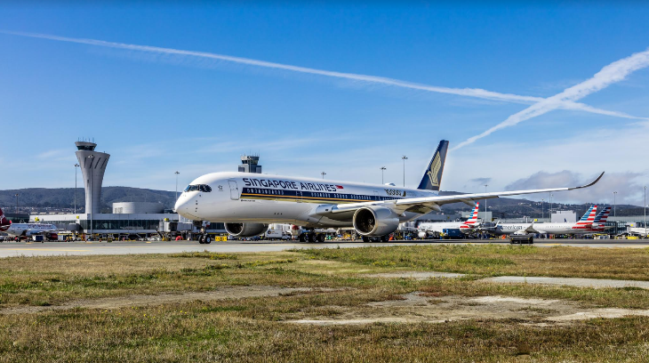 Singapore Airlines A350 SFO