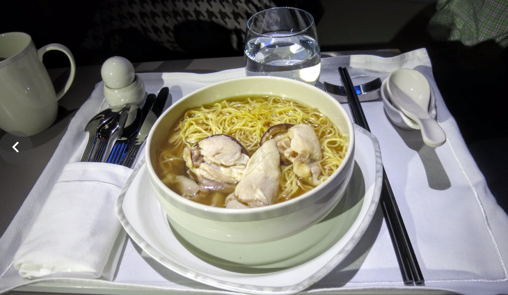Singapore Airlines soup