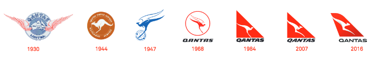 History of the Qantas logo