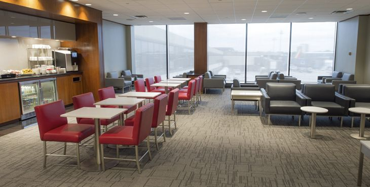 Air Canada opened a Maple Leaf Lounge at Newark. (Image: Air Canada)