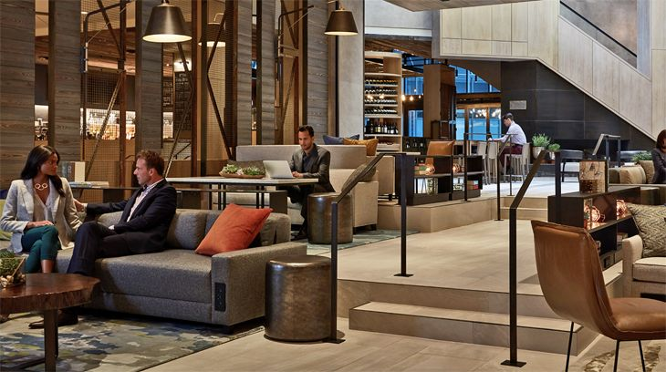 The Great Room at the M-Beta at Charlotte Marriott City Center. (Image: Marriott)