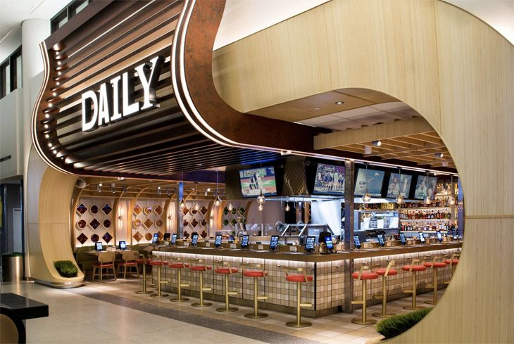 The new Daily restaurant at Newark's Terminal C. (Image: OTG)