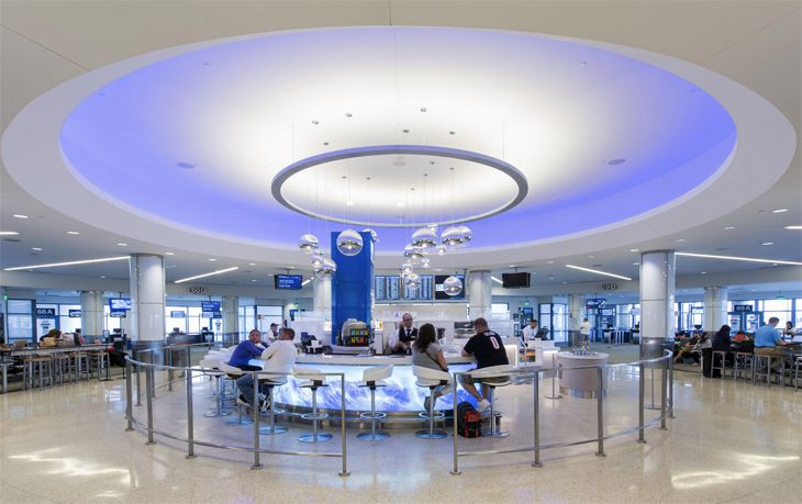 The new Blu2o restaurant at LAX's Terminal 6. (Image: Westfield)