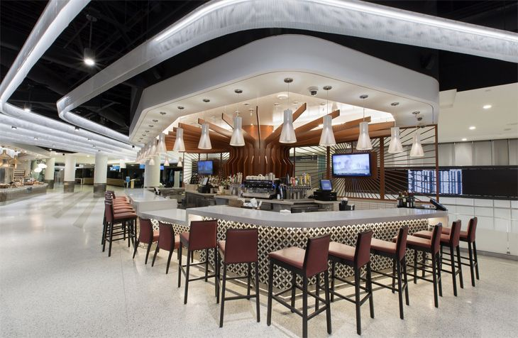 The bar at Wolfgang Puck's Marketplace. (Image: westfield)