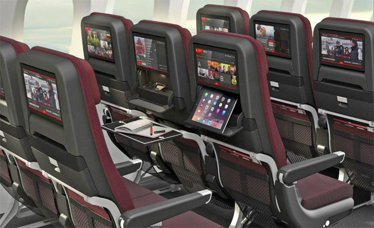 Dreamliner economy cabins will offer nine-across seating.(Image: Qantas)