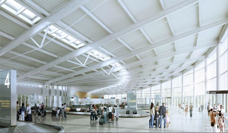 A rendering of the interior of Seattle's new international arrivals facility. (Image: Port of Seattle)