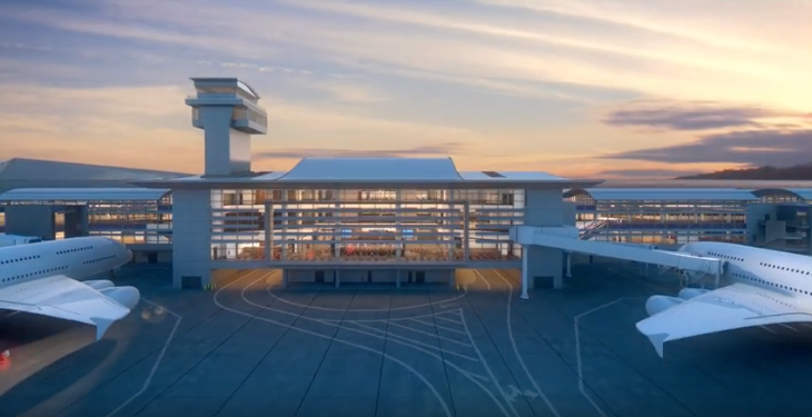 The new satellite concourse at LAX (Image: YouTube/LAWA)
