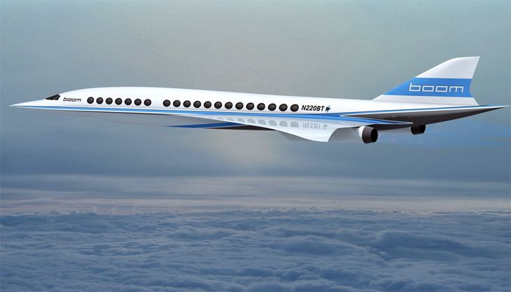Boom's SST design would be smaller than Concorde. (Image: Boom)