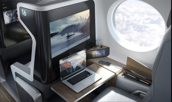 Rendering of a passenger seat on the planned SST. (Image: Boom)