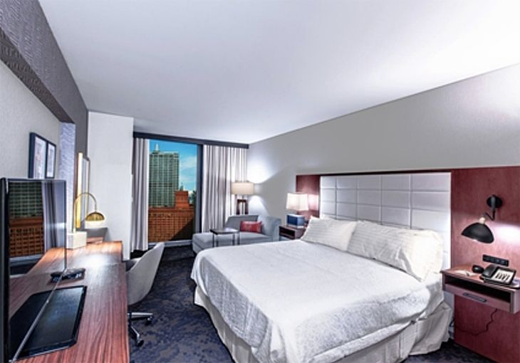 Accommodations at Hilton's new Hampton Inn in Chicago's West Loop. (Image: Hilton)