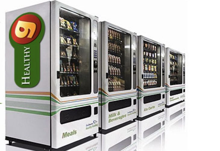 Healthy snack vending machines copmingto SFO will accept smartphone payment systems. (Image: Gillys Vending)
