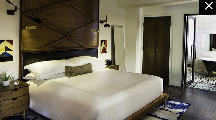 A room at the new Thompson Nashville. (Image: Thompson Hotels)