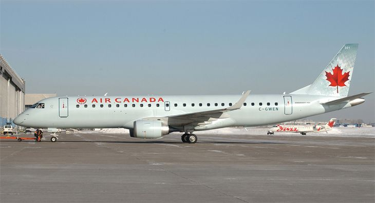 Air Canada will use regional jets like the Embraer 190 on new U.S. routes. (Image: Air Canada)