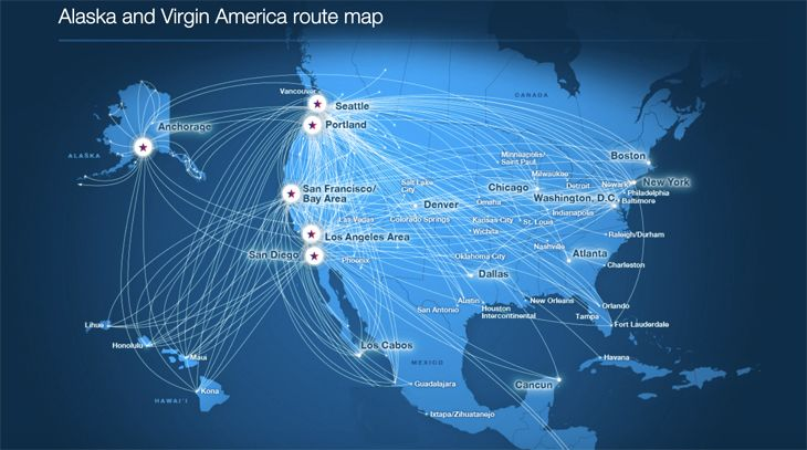 The combined Alaska-Virgin America will be the nation's fifth largest airline. (Image: Alaska Air Group)