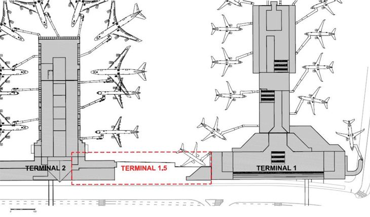 LAX's Terminal 1.5 will link T1 and T2. (Image: Los Angeles World Airports)