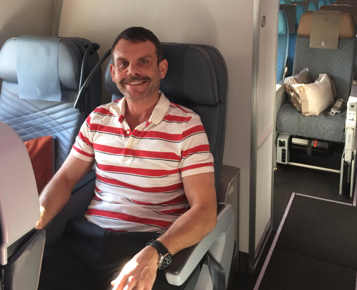 Seat 33 H in premium economy on a Singapore Airlines A350