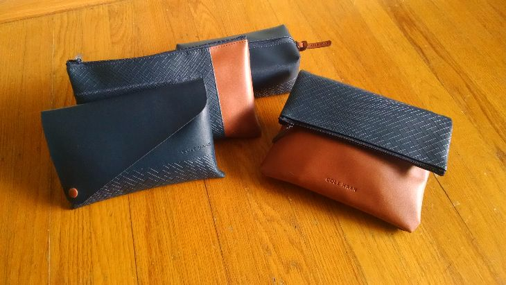 Trendy new amenity kits by American Airlines in collaboration with Cole Haan (Photo: Kim Grimes)