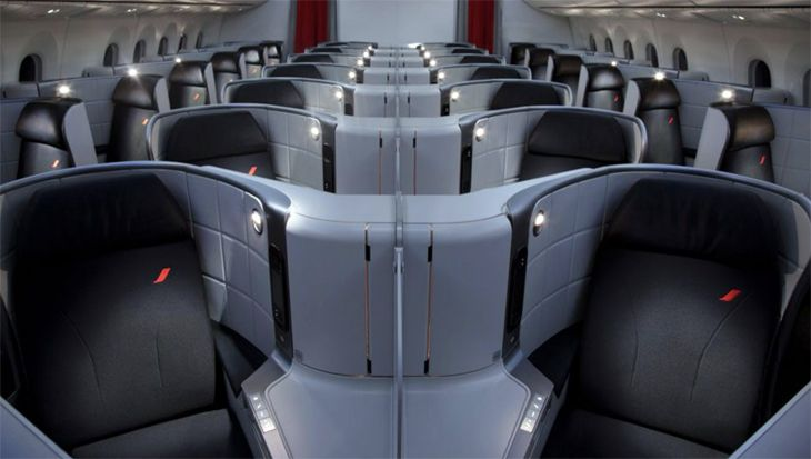 Business class on Air France's 787-9, which starts flying to Cairo next week and to Montreal in May. (Image: Air France)