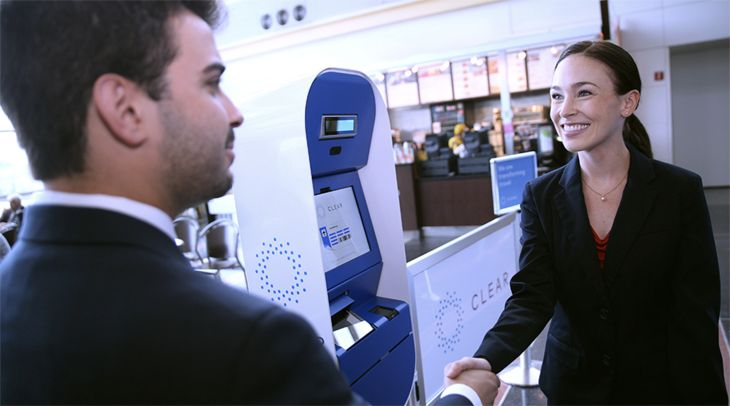 CLEAR members with biometric IDs can bypass security lines. (Image: CLEAR)