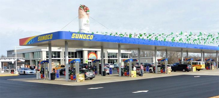 You can gas up and grab a bite at Dulles Airport's huge new Sunoco station. (Image: Metropolitan Washington Airports Authority)