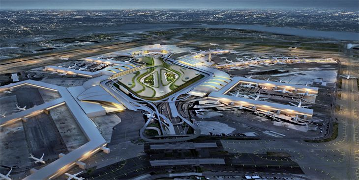 An interior ring road would link terminals. (Image: New York Governor's Office)