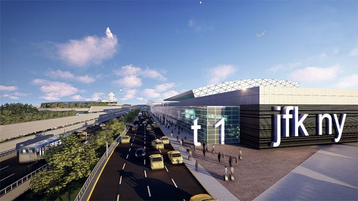 New roadways and mass transit would make airport access easier. (Image: New York Governor's Office)