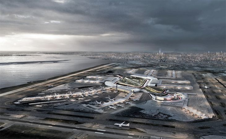"""Anm artists's rendering of the """"new"""" JFK Airport. (mage: New York Governor's Office)"""