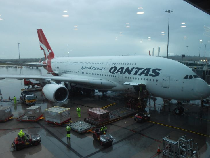 Qantas A380, QF93 at Melbourne