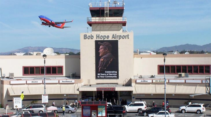 Burbank's airport is 16 miles northwest of downtown Los Angeles. (Image: Bob Hope Airport)