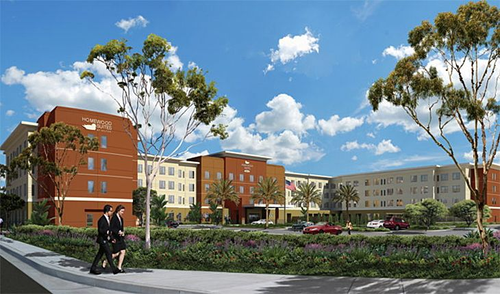 Orange County's new Homewood Suites is close to John Wayne Airport. (Image: Hilton)