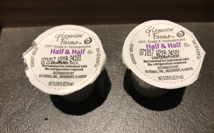 Marriott AC Hotels, creamer, half and half, cream