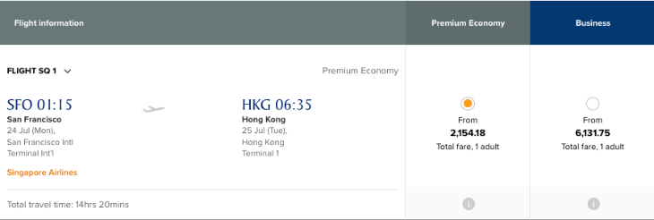 Reader Report: Singapore Airlines premium economy to Hong Kong ...
