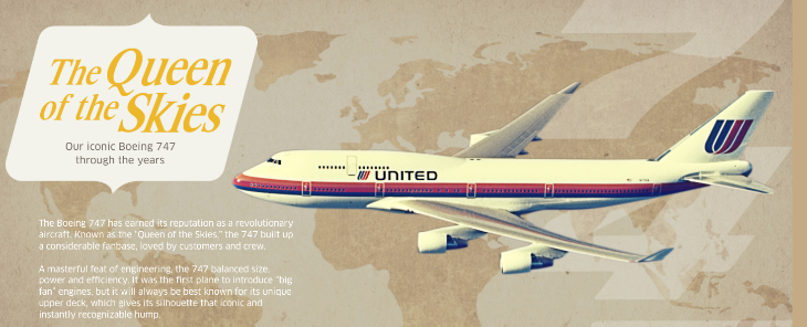 cedbe421 United's interactive page for the big United 747 farewell this week (Image:  United)