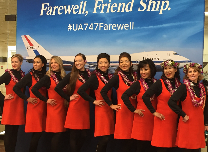 United Flight Attendants Onboard Wore Flowers In Their Hairu2026and Leis Around  Their Necks (Photo: Nancy Branka)