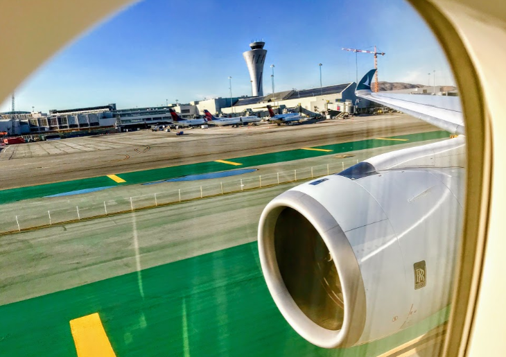 Cathay Pacific wing good timing