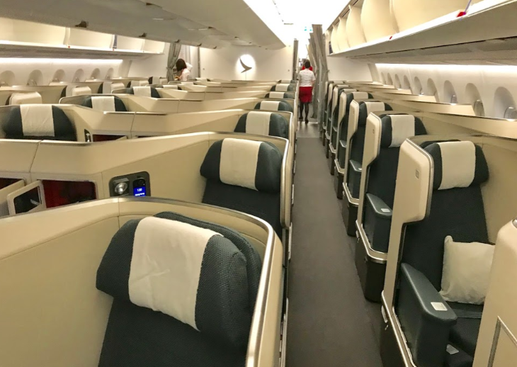 cathay pacific new business class interior classes Cathay Pacific A350 business class
