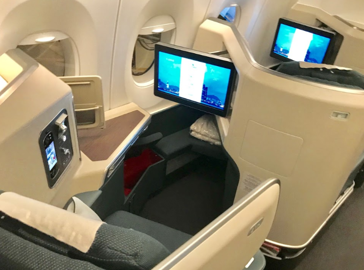 Cathay Pacific A350 window business class