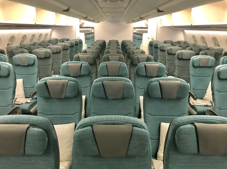 Economy class on Cathay Pacific A350