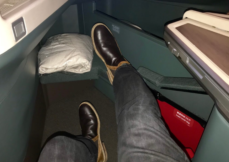 Cathay Pacific A350 business class boots