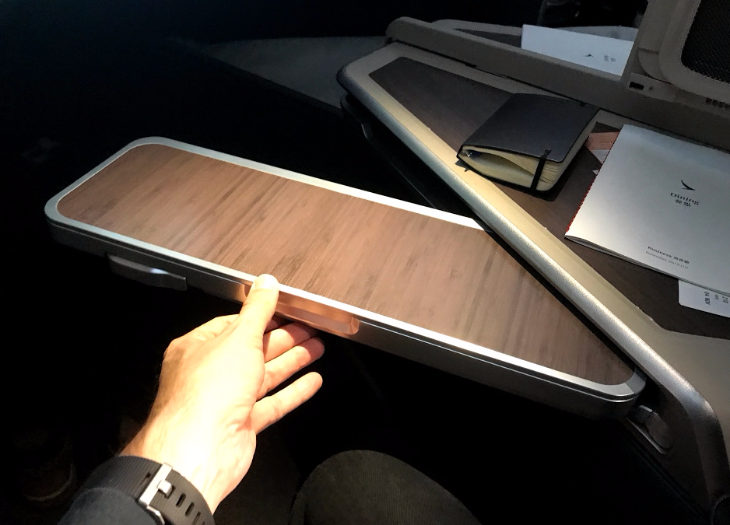 Cathay Pacific tray table