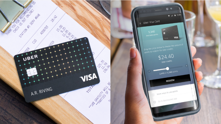 Uber Visa Card issued by Barclays