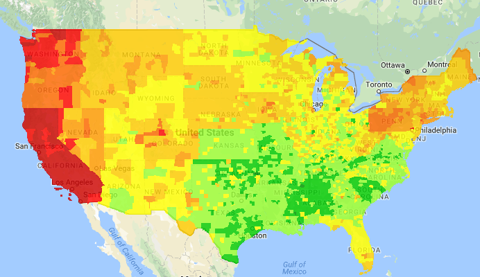 Gas Buddy Heat Map